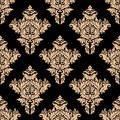 Beige And Black Seamless Floral Pattern Stock Photography - 42728992