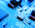 Microchips On A Circuit Board Stock Photo - 42729670