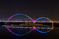 New Moon Bridge Rainbow Nice Royalty Free Stock Images - 42732159