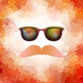 Retro Glasses With Reflection. EPS 10 Royalty Free Stock Photos - 42743888