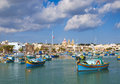 Traditional Fishing Boats Marsaxlokk Harbour Malta Royalty Free Stock Photography - 42753367