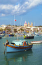 Traditional Fishing Boats Marsaxlokk Harbour Malta Stock Image - 42753381
