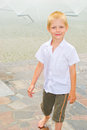 Boy Playing In The Fountain Stock Image - 42756811