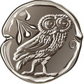 Vector Ancient Greek Money Silver Coin Drachma Royalty Free Stock Photography - 42762667