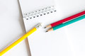 Pencils Red Yellow Green , Three Pencils On White Background , Pencils, Shallow Depth Royalty Free Stock Images - 42770459
