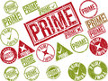 Collection Of 22 Red Grunge Rubber Stamps With Text Stock Photography - 42770572