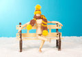 Wooden Mannequin On A Bench Royalty Free Stock Image - 42782686