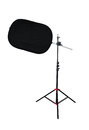 Tripod With Studio Light Reflector Royalty Free Stock Photo - 42783285