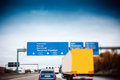 Busy Highway Autobahn Road Traffic In Germany Royalty Free Stock Photos - 42790398