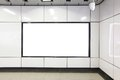 Blank Billboard In Metro Subway Station Stock Images - 42791134