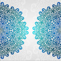 Lacy Ethnic Vector Photo Frame. Abstract Grunge Circle Floral Ornament Stock Photography - 42792042