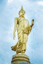 Golden Buddha Statue Standing In The Park.Thailand Royalty Free Stock Photo - 42793485