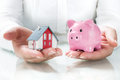 Concept Of Mortgage And Savings Stock Images - 42799734