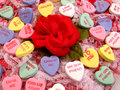 Rose, Lace And Hearts Stock Image - 4284261