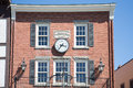 Clock On Old Morrison Building Stock Photos - 42812883