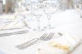 Wedding Dinner Table Set Stock Images - 42825164