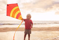 Young Boy Playing With Kite Royalty Free Stock Photos - 42831368