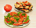 Baked Eggplant With Tomatoes Stock Photo - 42831710