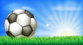 Soccer Football Ball On Pitch Royalty Free Stock Photos - 42846588