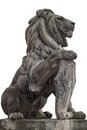 Stone Statue Of A Lion, Isolated Stock Photos - 42846843