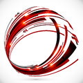Abstract Red And Black Techno Arrows Frame Stock Photo - 42851360