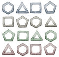 Stone Squares, Triangles And Other Shapes Set Stock Images - 42857504