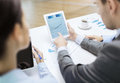 Business Team With Graph On Tablet Pc Screen Stock Photo - 42861030