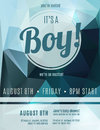 Boy Birth Announcement Flyer Template Stock Photography - 42861542
