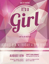 Its A Girl Birth Announcement Flyer Stock Image - 42862091