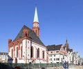 Famous Old Nikolai Church In Frankfurt At The Central Roemer Pla Stock Images - 42867354