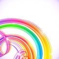 Rainbow Colors Abstract Shining Spirals Background Royalty Free Stock Photography - 42867777
