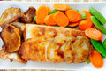 Potato Wrapped Halibut Fish Fillets Stock Photo - 42871850
