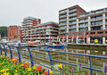 Residential Buildings Built On Place Of Abandoned Industrial Stock Photos - 42892913