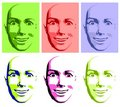 Abstract Pop Art Happy Face Woman Royalty Free Stock Photo - 4290035