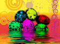 Psychedelic Easter Eggs Stock Images - 4294334