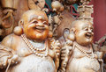 Wooden Smiling Buddha Stock Photography - 4294422
