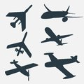 A Group Of Planes In All Different Angles. Royalty Free Stock Image - 42901426
