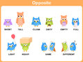 Opposite Word For Preschool Royalty Free Stock Images - 42909519
