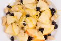 Fitness Salad With Black Raisins And Cashew. Royalty Free Stock Photography - 42922317