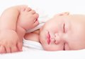 Beautiful Infant Baby Sleeping, Four Months Old Royalty Free Stock Photos - 42927938