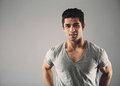 Confident Young Hispanic Male Fashion Model Royalty Free Stock Photography - 42935647