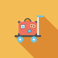 Vintage Travel Suitcases, Flat Icon With Long Shadow Royalty Free Stock Photo - 42935825