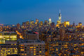 New York City Skyline With Urban Skyscrapers At Sunset. Royalty Free Stock Image - 42937426