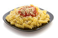 Pasta Fusilli In Plate On White Royalty Free Stock Image - 42937766