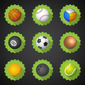 Sport Balls Football Soccer Voleyball Etc Flat Icon Set Vector  Royalty Free Stock Photo - 42942115