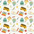 Cute School Cartoon Seamless Pattern Royalty Free Stock Photos - 42948138