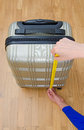 Hand Luggage Measurement. Royalty Free Stock Photos - 42954108