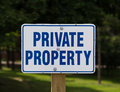 Private Property Sign Stock Photos - 42961593