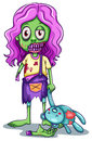 A Young Female Zombie Royalty Free Stock Images - 42963849