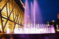 FOUNTAIN ON NIGHT CITY Stock Photo - 42969450